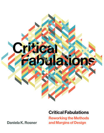 Critical Fabulations by Daniela K Rosner