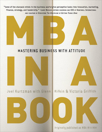 MBA in a Book by Joel Kurtzman, Glenn Rifkin and Victoria Griffith
