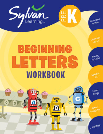Pre-K Beginning Letters Workbook by Sylvan Learning