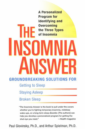 The Insomnia Answer by Paul Glovinsky and Art Spielman