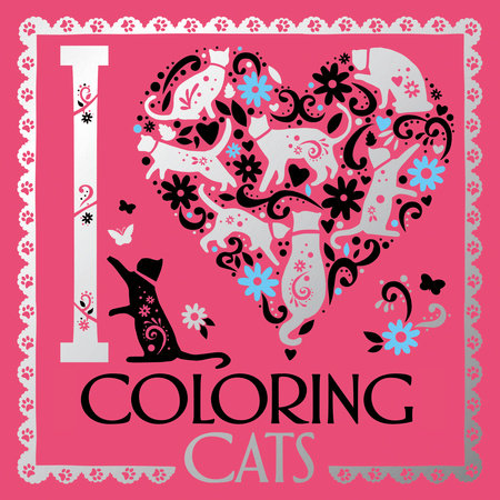 I Heart Coloring Cats by