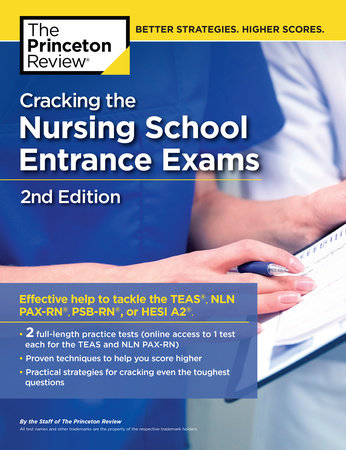 Cracking the Nursing School Entrance Exams, 2nd Edition