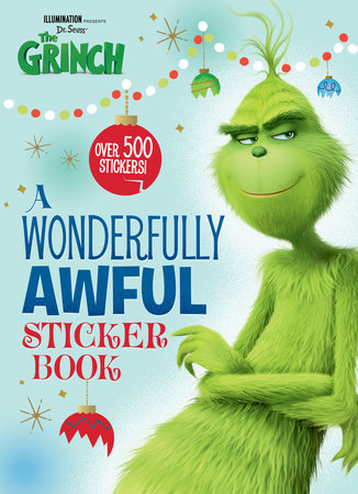 A Wonderfully Awful Sticker Book (Illumination's The Grinch) by Mary Man-Kong