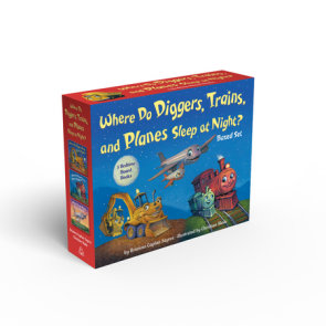 Where Do Diggers, Trains, and Planes Sleep at Night? Board Book Boxed Set