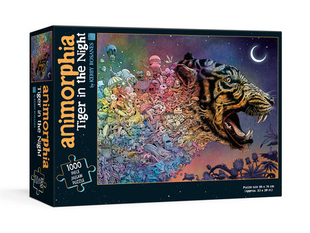 Animorphia Tiger in the Night Puzzle by Kerby Rosanes