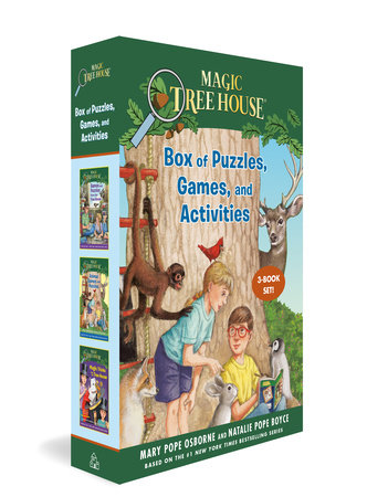 Magic Tree House Box of Puzzles, Games, and Activities (3 Book Set) by Mary Pope Osborne and Natalie Pope Boyce