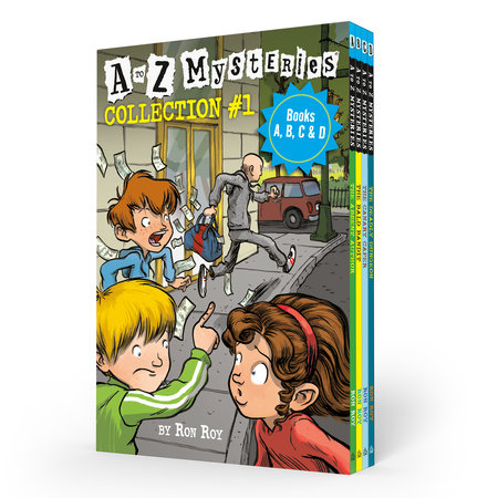 A to Z Mysteries Boxed Set Collection #1 (Books A, B, C, & D) by Ron Roy