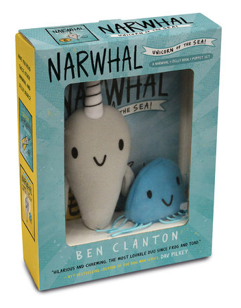 Narwhal and Jelly Book 1 and Puppet Set by Ben Clanton