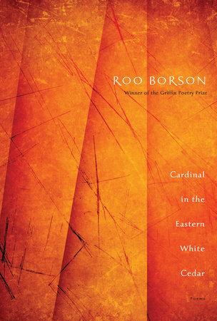 Cardinal in the Eastern White Cedar by Roo Borson