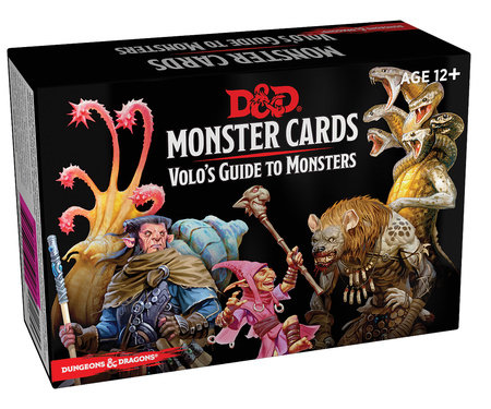 Dungeons & Dragons Spellbook Cards: Volo's Guide to Monsters (Monster Cards, D&D Accessory) by