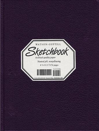 Large Sketchbook (Kivar, Blackberry) by Watson-Guptill