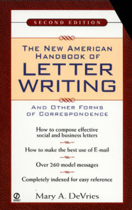 The New American Handbook of Letter Writing