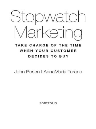 Stopwatch Marketing by John Rosen and AnnaMaria Turano