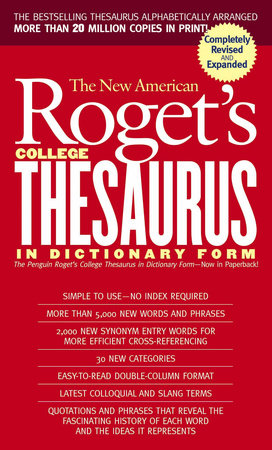 New American Roget's College Thesaurus in Dictionary Form (Revised &  Updated) by Philip D  Morehead | PenguinRandomHouse com: Books