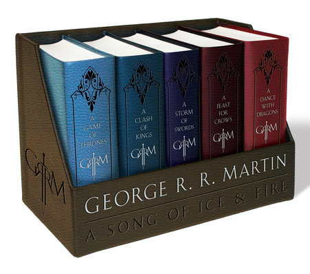 George R. R. Martin's A Game of Thrones Leather-Cloth Boxed Set (Song of Ice and Fire Series) by George R. R. Martin