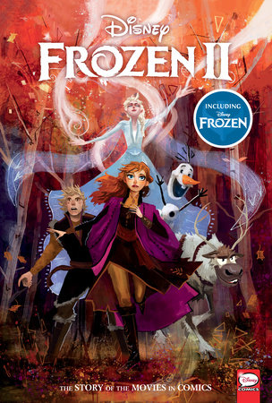 Disney Frozen and Frozen 2: The Story of the Movies in Comics by Alessandro Ferrari