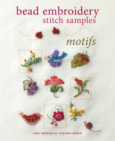 Bead Embroidery Stitch Samples - Motifs by CRK Design and Yasuko Endo