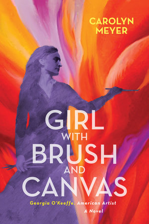 Girl with Brush and Canvas by Carolyn Meyer