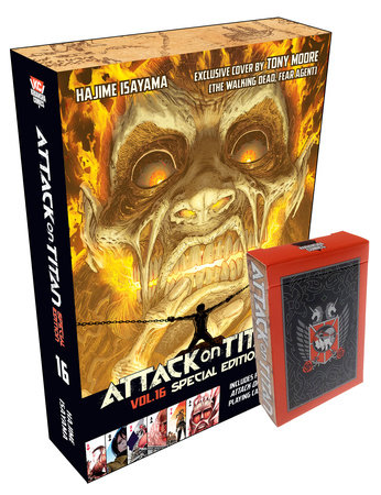 Attack on Titan 16 Manga Special Edition with Playing Cards by Hajime Isayama