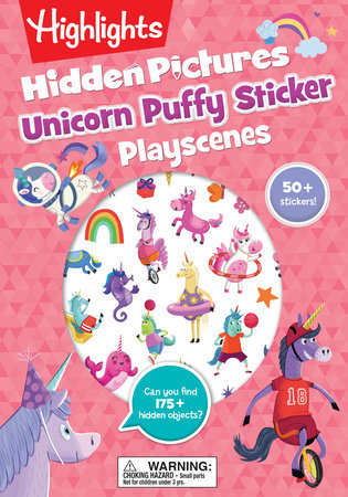 Unicorn Hidden Pictures Puffy Sticker Playscenes by