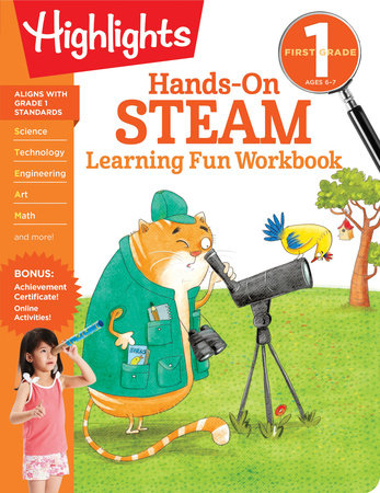 First Grade Hands-On STEAM Learning Fun Workbook by
