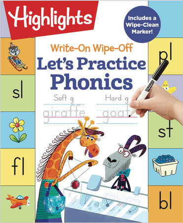 Write-On Wipe-Off Let's Practice Phonics by