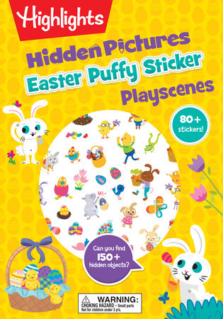 Easter Hidden Pictures Puffy Sticker Playscenes by