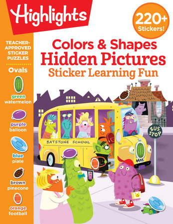 Colors & Shapes Hidden Pictures Sticker Learning Fun by