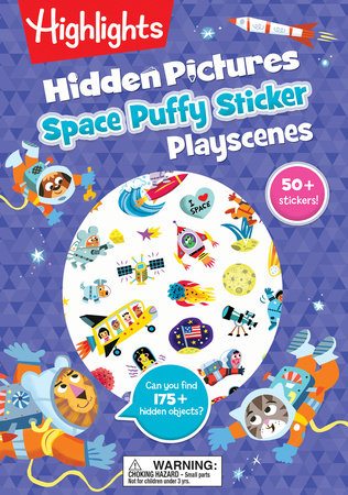 Space Hidden Pictures Puffy Sticker Playscenes by