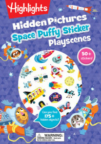 Space Hidden Pictures Puffy Sticker Playscenes