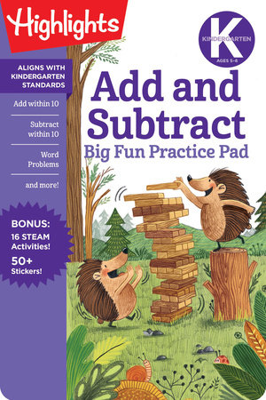 Kindergarten Add and Subtract Big Fun Practice Pad by
