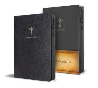 Biblia Católica en español. Símil piel negro, con cremallera, tamaño compacto / Catholic Bible. Spanish-Language, Leathersoft, Black, Zipper Compact