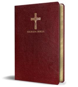 Biblia Católica en español. Símil piel vinotinto, tamaño compacto / Catholic Bible. Spanish-Language, Leathersoft, Wine, Compact