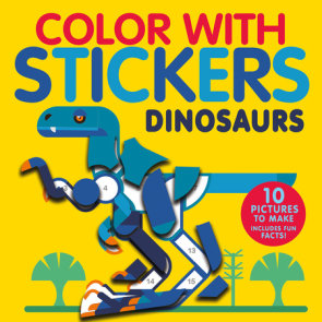 Color with Stickers: Dinosaurs