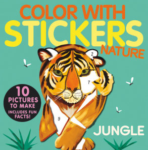 Color with Stickers: Jungle