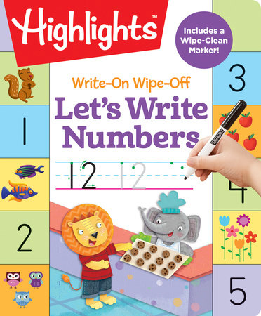 Write-On Wipe-Off Let's Write Numbers by