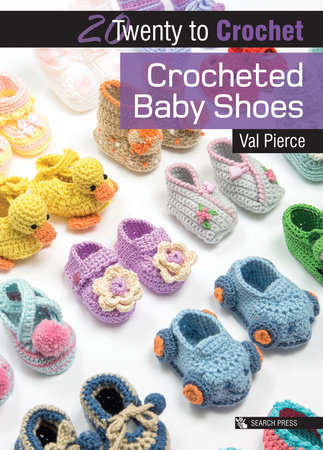 Crocheted Baby Shoes by Val Pierce