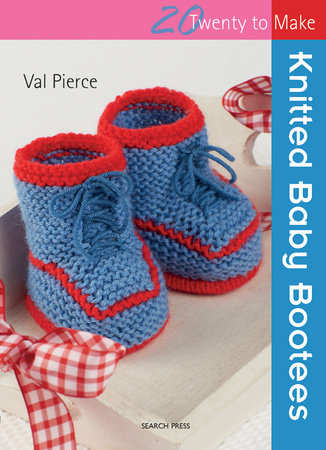Knitted Baby Bootees by Val Pierce