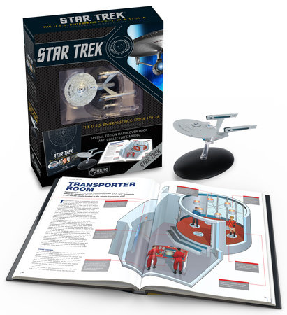 Star Trek: The U.S.S. Enterprise NCC-1701 Illustrated Handbook Plus Collectible by Ben Robinson, Marcus Riley and Simon Hugo