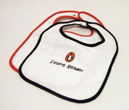Bib: Future Reader (Orange Trim) by Penguin Merchandise