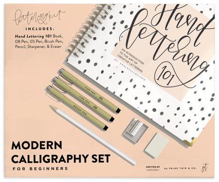Modern Calligraphy Set for Beginners by Chalkfulloflove