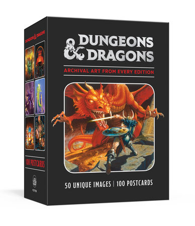 Dungeons & Dragons 100 Postcards: Archival Art from Every Edition by Official Dungeons & Dragons Licensed