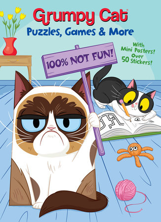 Grumpy Cat Puzzles, Games & More (Grumpy Cat) by Rachel Chlebowski