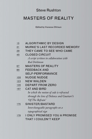 Masters of Reality by Steve Rushton